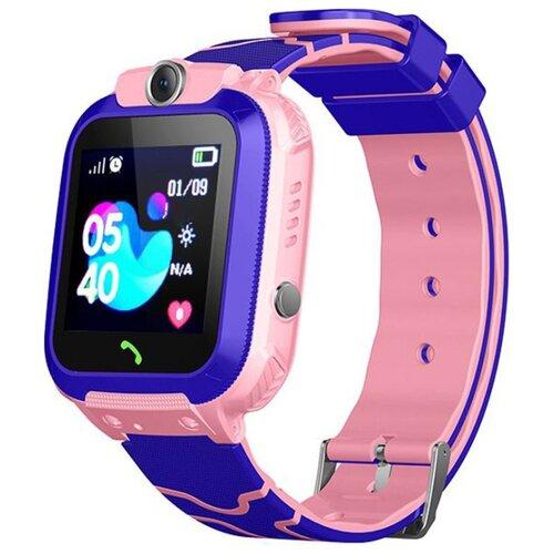 цена Часы Smart Baby Watch Q12 розовый/фиолетовый онлайн в 2017 году