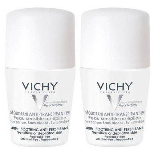 Vichy дезодорант-антиперспирант, ролик, для очень чувствительной кожи 48 ч, 50 мл дезодорант vichy цена
