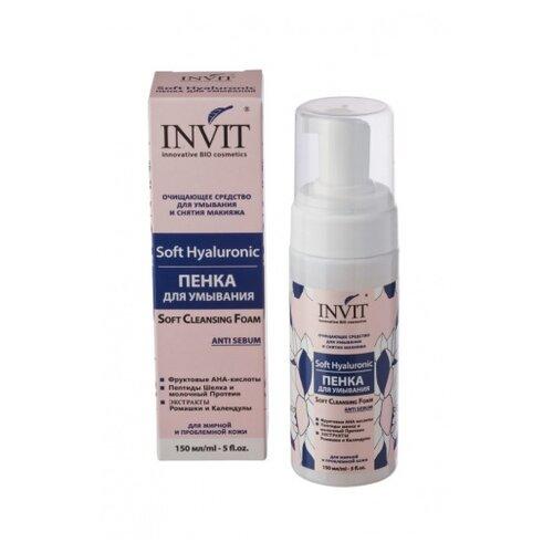 Фото - INVIT Soft Hyaluronic пенка для умывания для жирной и проблемной кожи, 150 мл мусс для умывания кора 160 мл с пребиотиками для проблемной и жирной кожи