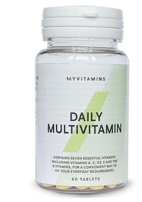 Купить Мультивитамины Myprotein Daily Multivitamin (60 таблеток) нейтральный по низкой цене с доставкой из Яндекс.Маркета