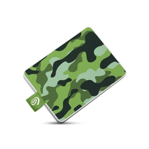 Фото - Внешний SSD Seagate One Touch 500 ГБ камуфляж зеленый накопитель на жестком магнитном диске seagate внешний твердотельный накопитель seagate one touch ssd stje1000402 1тб 2 5 usb 3 0 white