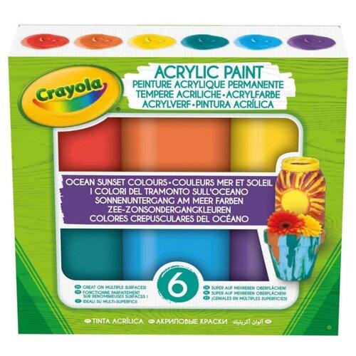 цена на Crayola акриловые краски Закат над океаном 6 цветов х 59 мл (54-2010)