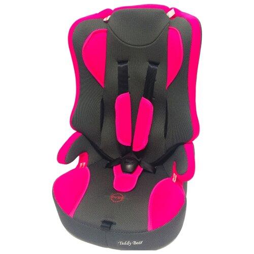 Купить Автокресло группа 2/3 (15-36 кг) Мишутка LB 513 (без вкладыша), pink/black dot, Автокресла