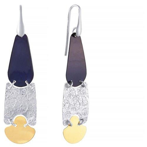 JV Серебряные серьги с эмалью ARL1110AS-BAU-SR-ENAM-002-WJ