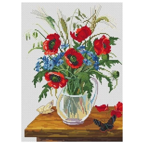Купить Набор Букет полевых цветов вышивка крестом 20х27, 5 Белоснежка 6023-14, Наборы для вышивания