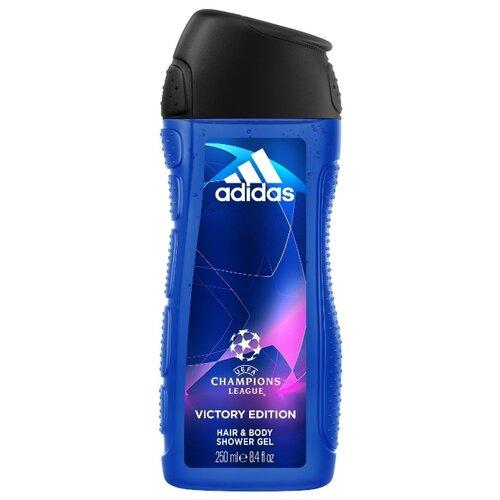 Гель для душа и шампунь Adidas UEFA champions league Victory edition, 250 мл гель для ежедневного умывания cleanmat 225 мл premium home work