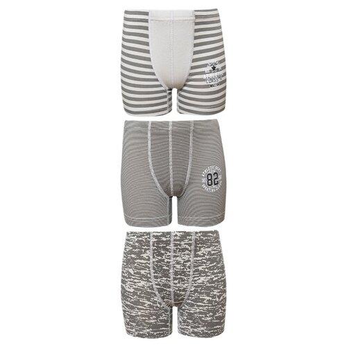 Купить Трусы BAYKAR 3 шт., размер 170/176, серый, Белье и пляжная мода