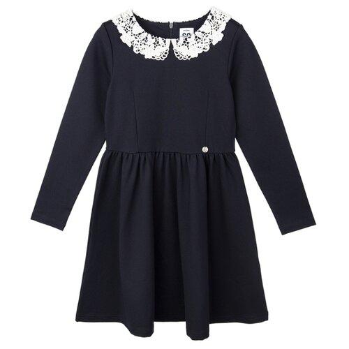 Купить Платье playToday размер 134, темно-синий/белый, Платья и сарафаны