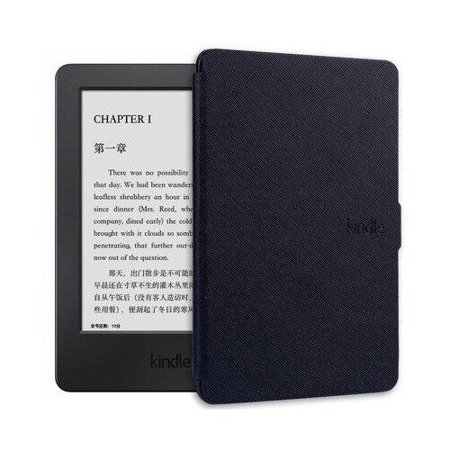 Чехол-обложка MyPads для электронной книги Amazon Kindle Touch / Kindle 8 (2016) на пластиковой основе с магнитной застежкой черный