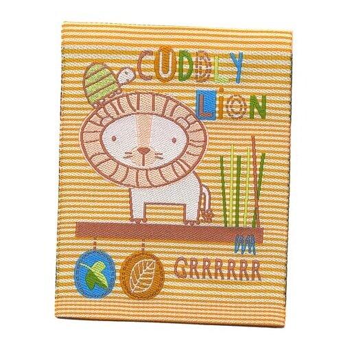 Купить Термоаппликация HKM Textil Милый лев 6.5 х 8.5 см бежевый/оранжевый, Декоративные элементы