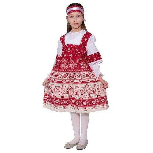 Купить Костюм Бока Русский купонный, красный, размер 122-134, Карнавальные костюмы