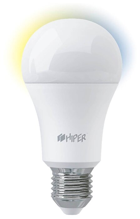 Лампа светодиодная HIPER IoT A61 White, E27, A60, 11Вт фото 1