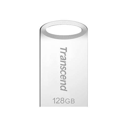 Фото - Флешка Transcend JetFlash 710S 128 GB, серебристый флешка transcend jetflash 710s 64 gb серебристый