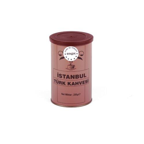 Кофе молотый İstanbul Türk Kahvesi c ароматом фундука, жестяная банка, 250 г tarkan istanbul