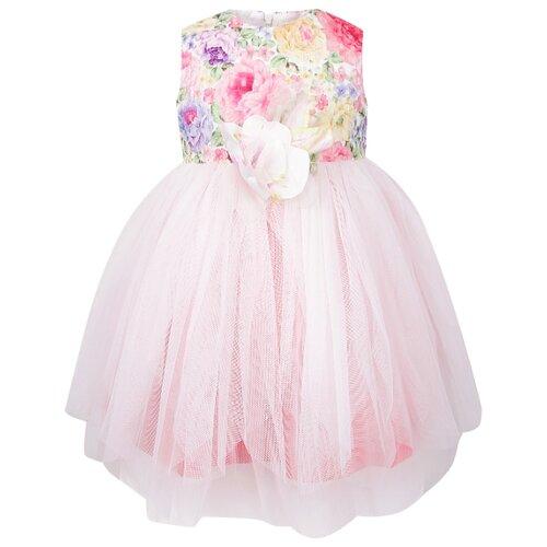 Платье Marlu размер 62-68, цветочный принт/розовый/сиреневый