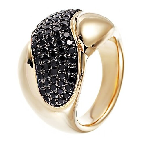 JV Кольцо из золота 585 пробы с шпинелями MRRS90526K-1-SP-YG, размер 17.25