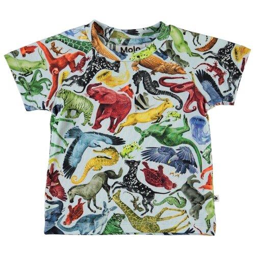 Футболка Molo размер 68, 6237 Colourful animals, Футболки и рубашки  - купить со скидкой