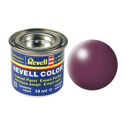 Краски для моделизма, эмалевая, пурпурно-красная, РАЛ 3004, шелково-матовая