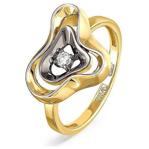 Фото - KABAROVSKY Кольцо с 1 бриллиантом из жёлтого золота 11-2999-1000, размер 18 kabarovsky кольцо с 1 бриллиантом из жёлтого золота 11 2999 1000 размер 18