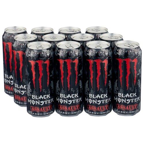 Энергетический напиток Monster Energy Black Assault, 0.5 л, 12 шт.