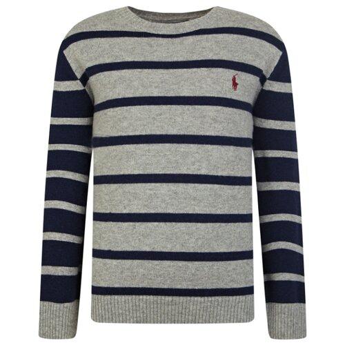 Купить Джемпер Ralph Lauren размер 92, серый/синий, Джемперы и толстовки
