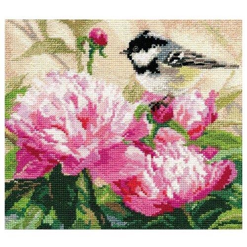Фото - Алиса Набор для вышивания Синичка и пионы 19 x 17 см (1-22) алиса набор для вышивания тюльпаны малиновое сияние 22 x 26 см 2 43