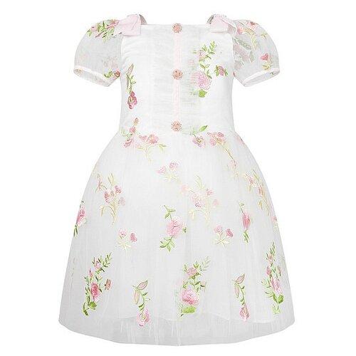 Платье David Charles размер 116, кремовый/розовый