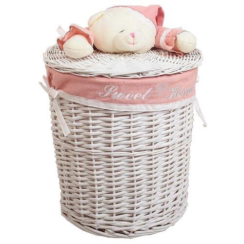 Фото - Доляна Корзина для белья Медвежонок розовый 30 х 30 х 26 см бежевый/розовый handy home корзина для белья медвежонок 37x37x40 см белый коричневый