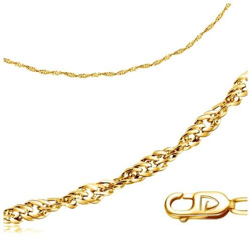 Бронницкий Ювелир Цепь из желтого золота 510350227, 40 см, 2.88 г