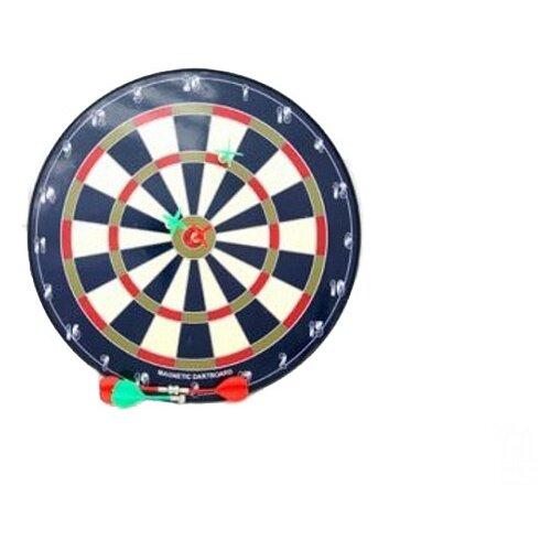 Купить Дартс магнитный Shenzhen Jingyitian Trade с дротиками (Ф20359) черный/белый, Спортивные игры и игрушки