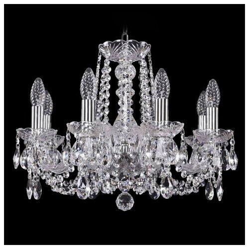 Люстра Bohemia Ivele Crystal 1402 1402/8/160/Ni, E14, 320 Вт люстра bohemia ivele crystal 1402 1402 8 195 g m711 e14 320 вт