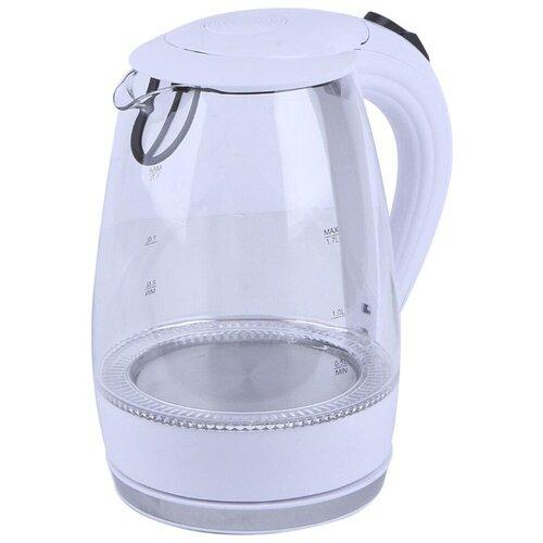 Чайник Atlanta ATH-2532, белый весы кухонные atlanta ath 6215 красный