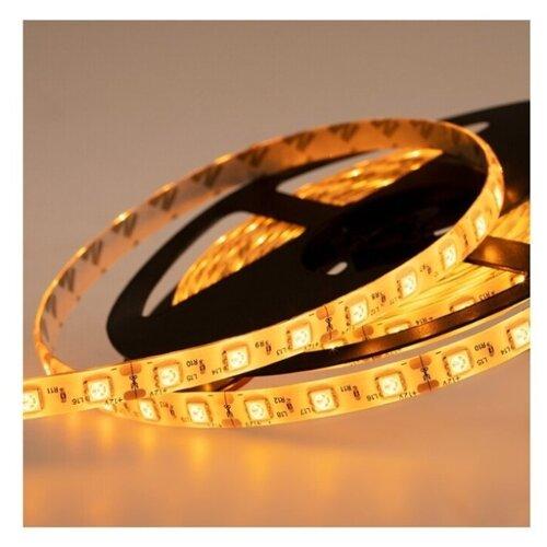 Светодиодная LED лента LAMPER 5 м силикон, 10 мм, IP65, SMD 5050, 60 LED/m, 12 V, цвет свечения желтый