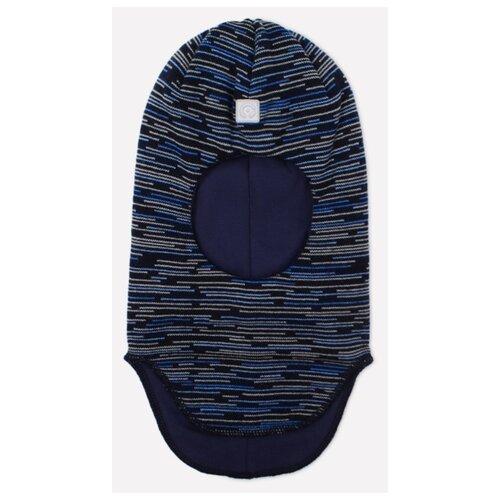 Купить Шапка-шлем crockid размер 46-48, темно-синий/голубой, Головные уборы