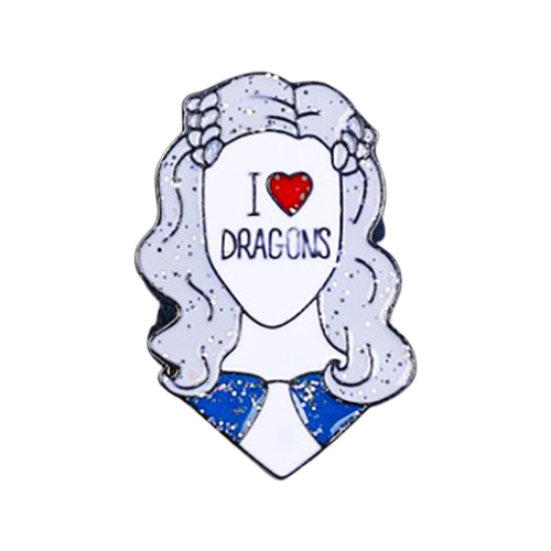 Micio Брошь-значок I love dragons 3714996