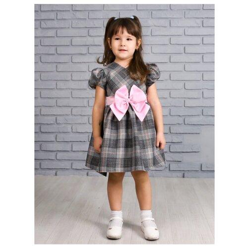 Купить Платье Khmeleva размер 116, серый, Платья и сарафаны