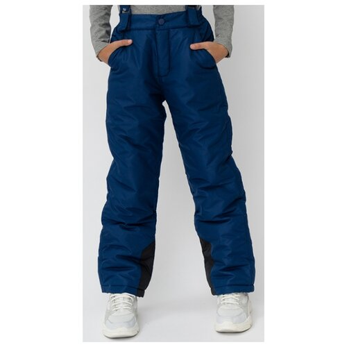 Купить Брюки Button Blue размер 140, темно-синий, Полукомбинезоны и брюки