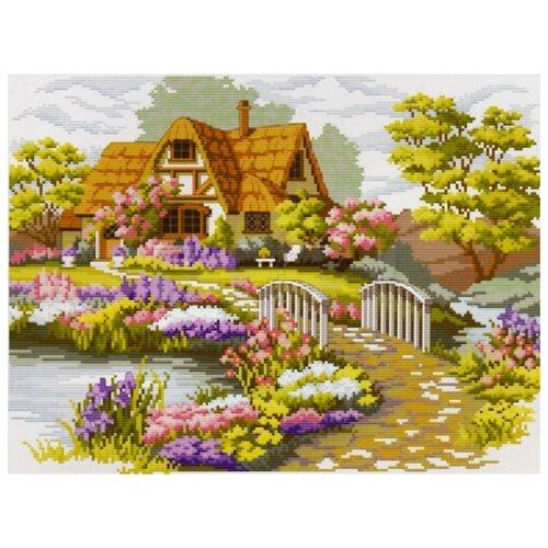 Белоснежка Набор для вышивания Мостик в цветах 37 х 28, 5 см (1060-14), Наборы для вышивания  - купить со скидкой