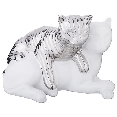 Фото - Статуэтка Lefard Кошечки, 22 см белый/серебристый статуэтка lefard балерина 699 157 18 см белый серебристый