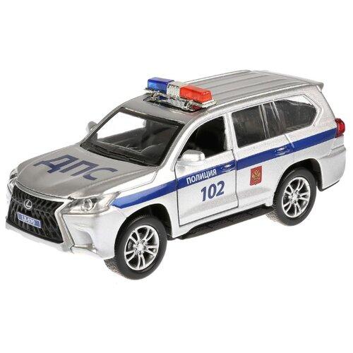 Фото - Внедорожник ТЕХНОПАРК Lexus LX-570 полиция (LX570-P-SL) 12 см серебристый внедорожник hoffmann lexus lx570 102779 1 32 18 см черный
