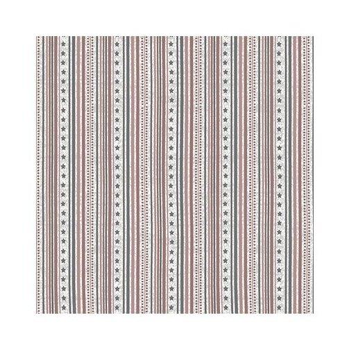 Ткань STOF PEPPY (P - W) для пэчворка 4497 фасовка 50 x 55 см 146±5 г/кв.м Полоски/звездочки 009