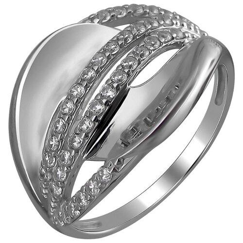 Эстет Кольцо с 38 фианитами из серебра 01К159740, размер 19 ЭСТЕТ