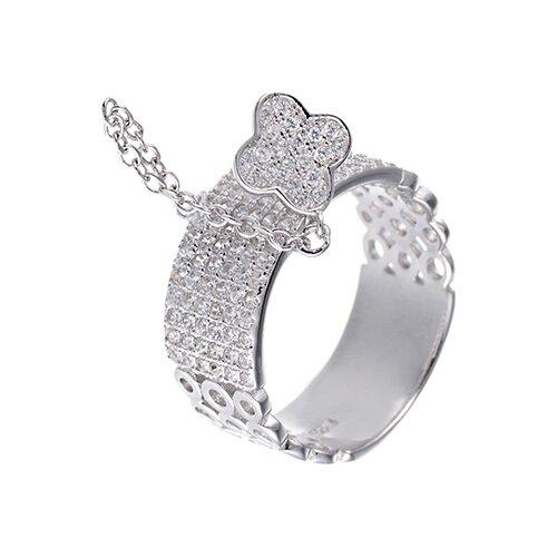 цена на JV Кольцо с фианитами из серебра CAR2021-001-WG, размер 18
