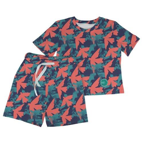 Купить Пижама Marengo Textile размер 140, оранжевый, Домашняя одежда