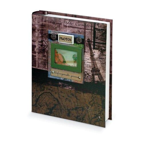 Фотоальбом BRAUBERG Путешествие, бокс (390672), 200 фото, для формата 10 х 15, коричневый