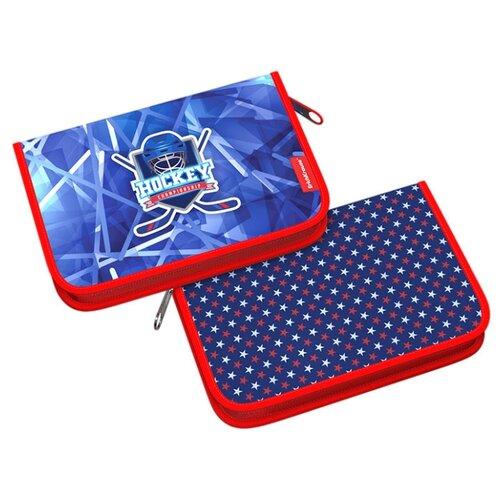 Купить ErichKrause Пенал-книжка Hockey (48250) синий, Пеналы