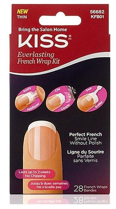 Накладные ногти KISS Everlasting French Wrap Kit KFB01