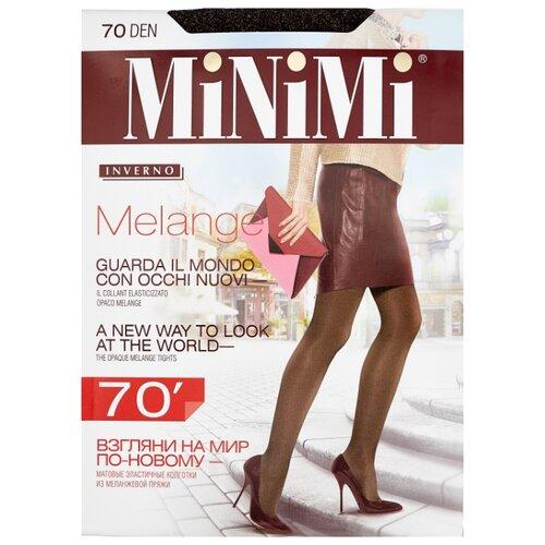 Колготки MiNiMi Melange 70 den, размер 4-L, moka melange (коричневый) фото