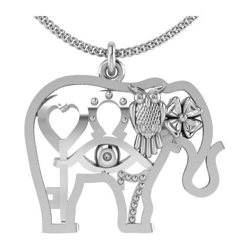 POKROVSKY Серебряная подвеска «Слон» из коллекции «Счастье» 0400521-00245 moonswoon серебряная моносерьга 5 из коллекции digits moonswoon