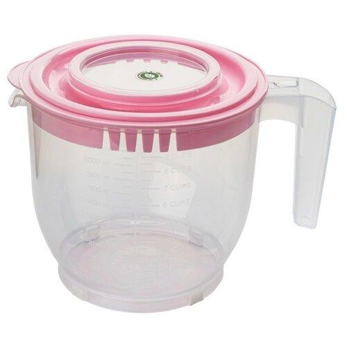 Емкость для миксера (блендера) ElfPlast, 2.2 л розовый